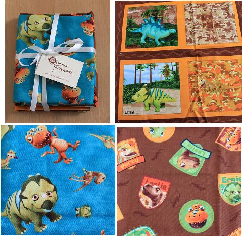 Quilting treasures 39 dinosaur train fabric review emily for Train themed fabric