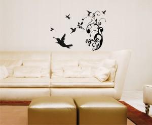 Beautiful Hummingbird Scene wall