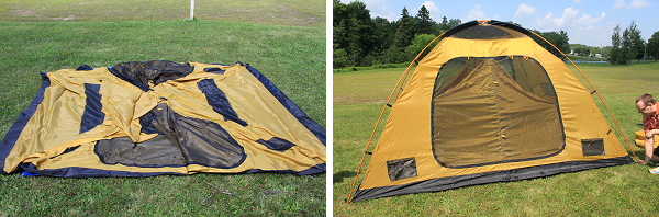 The Tundern Cove 6 tent is a brand new tent from Eureka and it comes in a unique golden color. It is designed to accommodate a family of 4-5 people with ... & Eureka! Tundern Cove 6 Tent and Pinery 500 Footprint Review ...