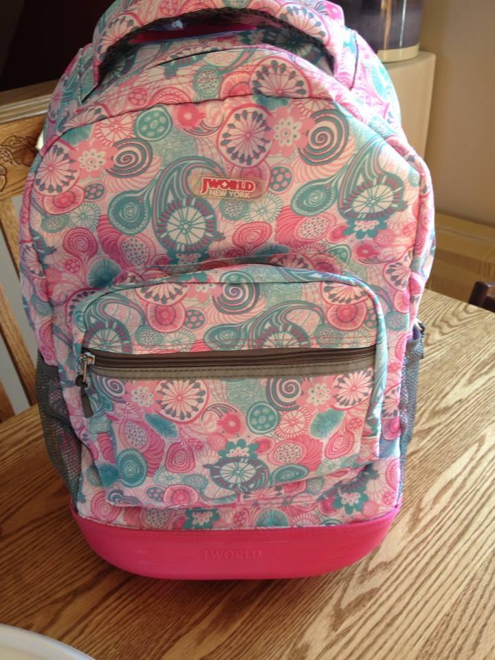 e273494ff2 Back To School~ J World New York Sunrise Backpack & Corey Lunch Bag ...