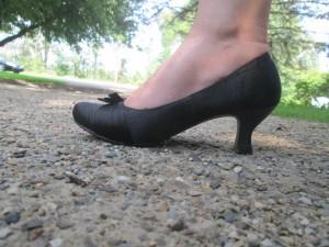 Comfortable black heels