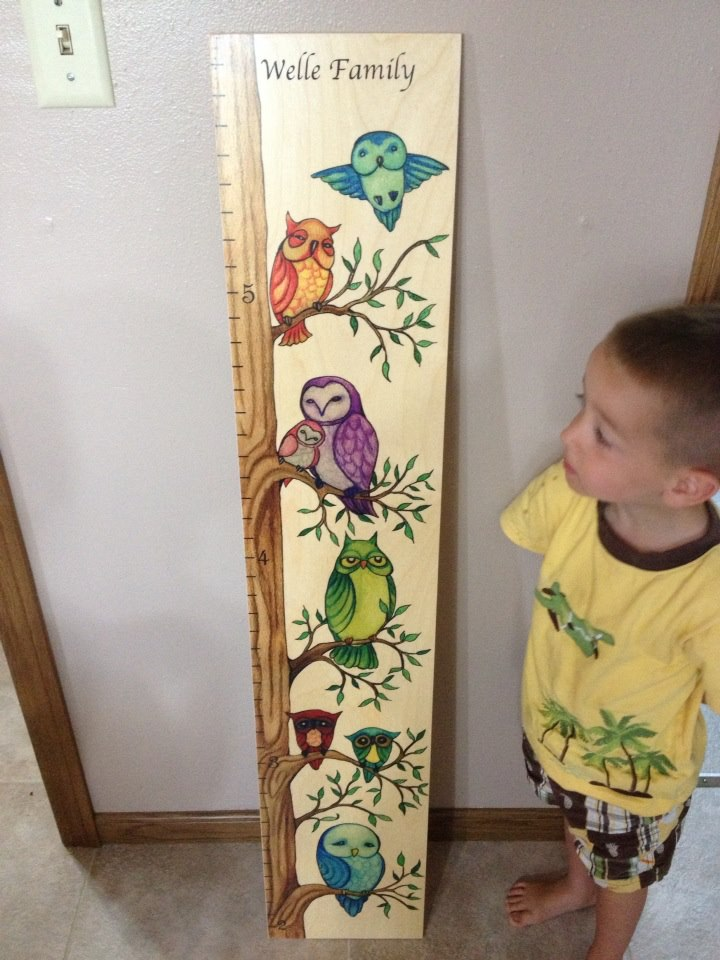 Growth Chart Art Owl Growth Chart Review Giveaway Us 92 Emily