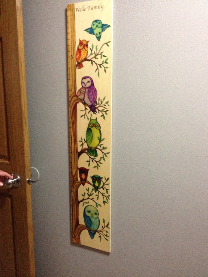 Growth Chart Art Owl Growth Chart Review Amp Giveaway Us 9
