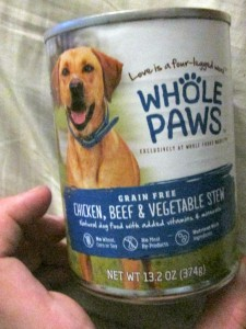 Whole Paws can dog food