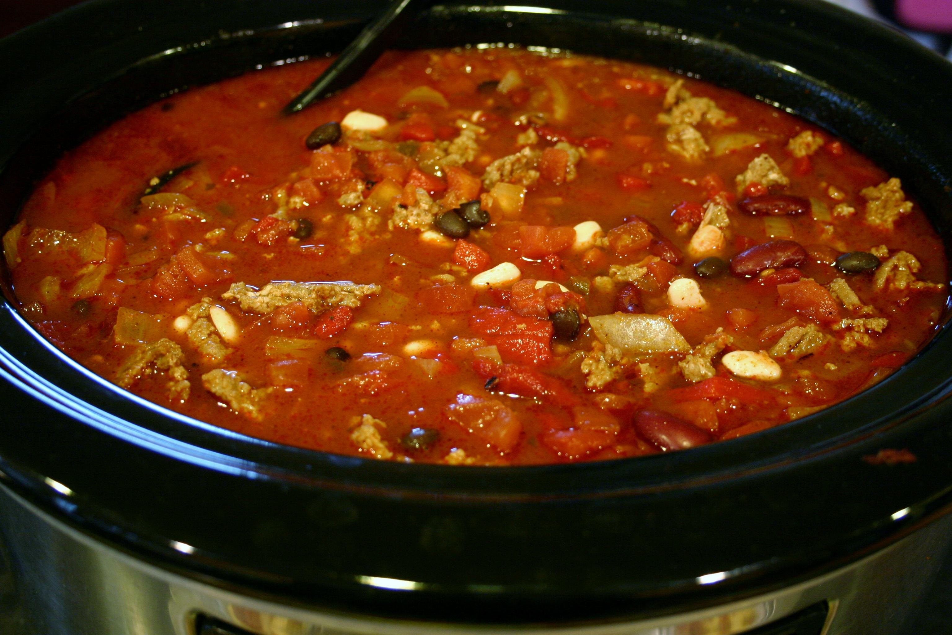 ... Three-Bean Turkey Chili . To make Three-Bean Turkey Chili, you need