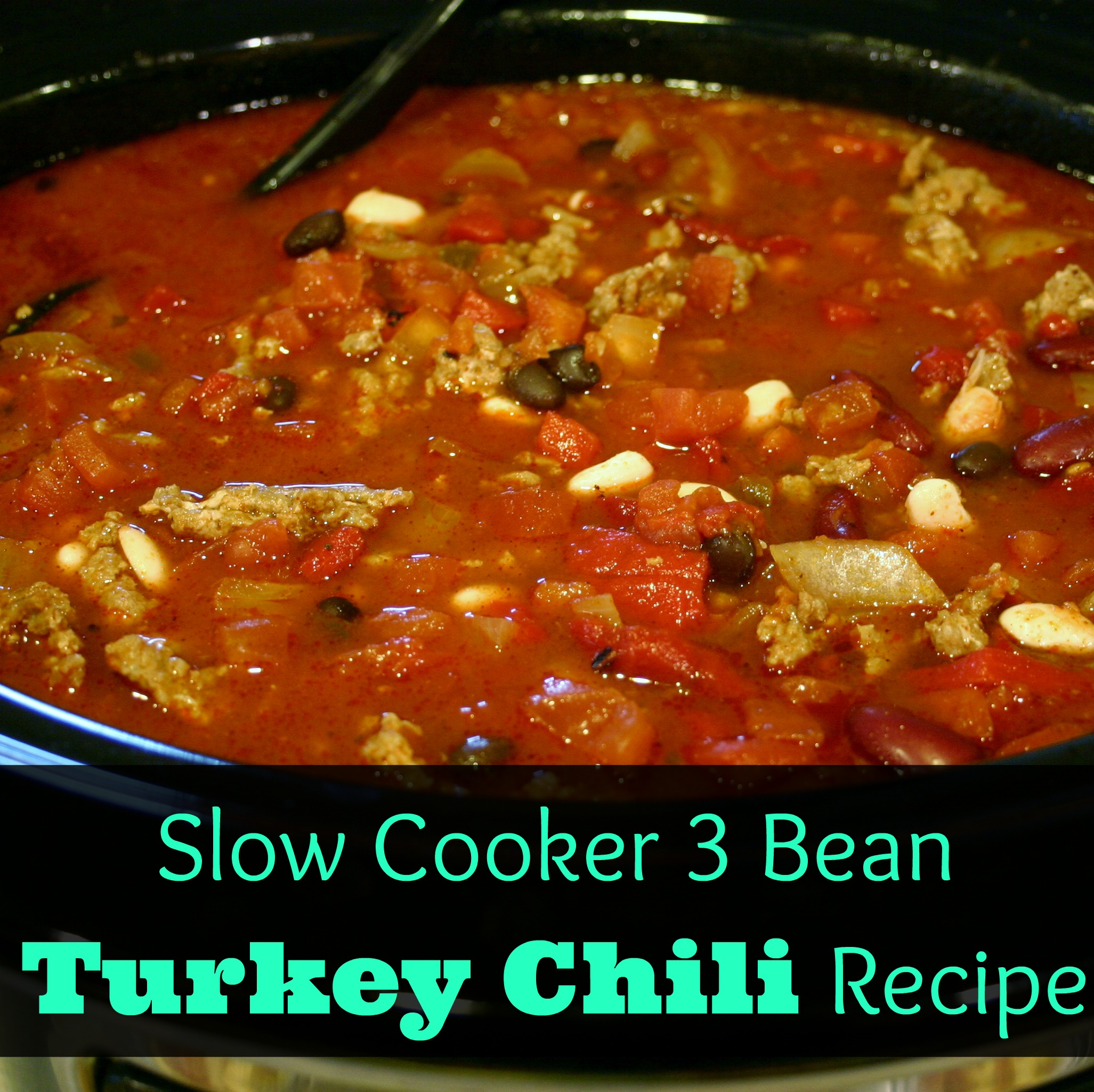 Easy & Healthy Dinner~ Three-Bean Turkey Chili Recipe ...