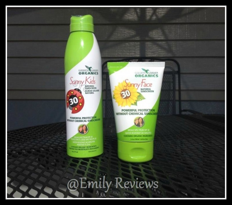 I Received The Sunny Kids Natural Sunscreen Continuous Spray And Sunny Face  Natural Sunscreen From Goddess Garden Organics. The Sunny Kids Continuous  Spray ...