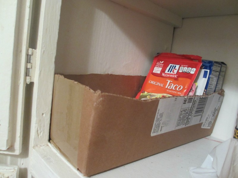 seasoning packet pantry storage idea