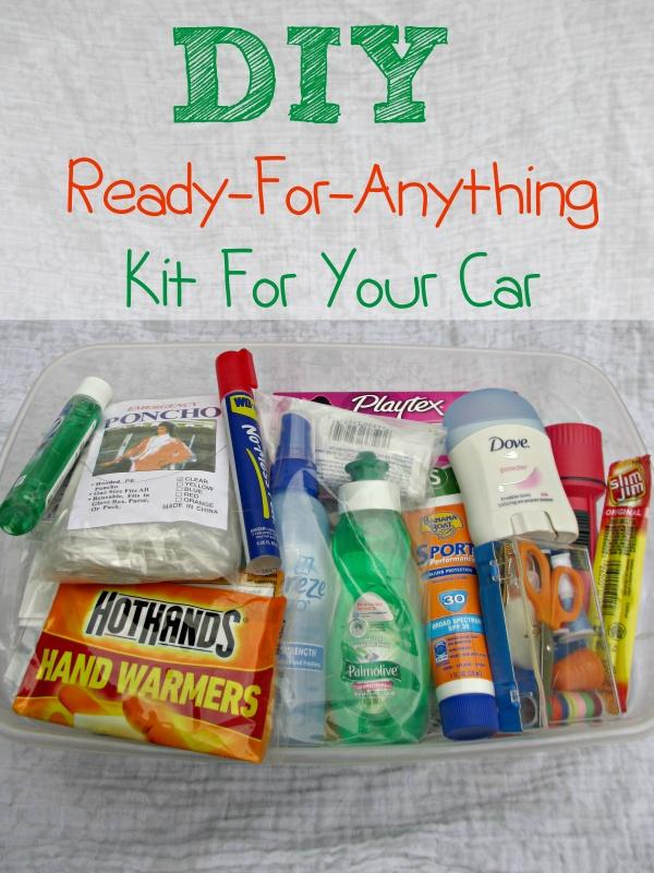 DIY Ready for anything emergency car kit