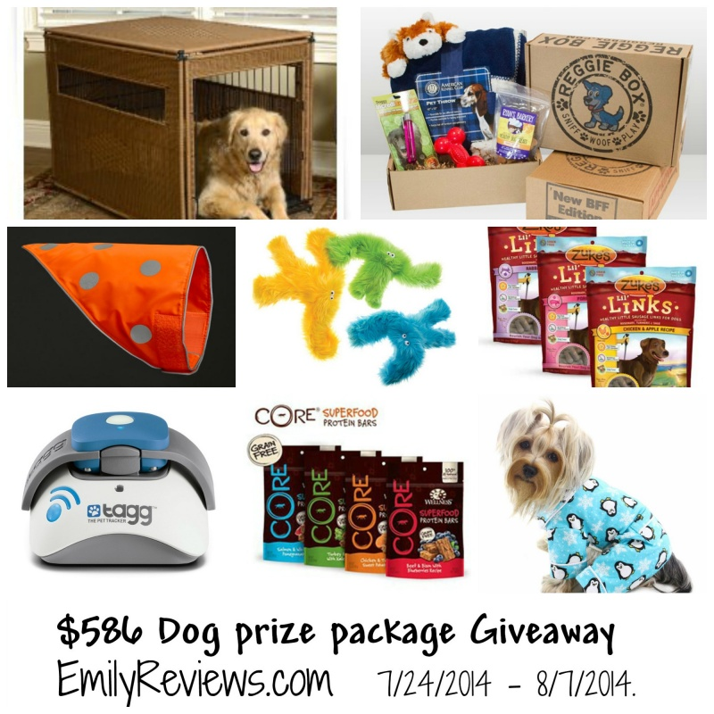 $586 dog prize package giveaway