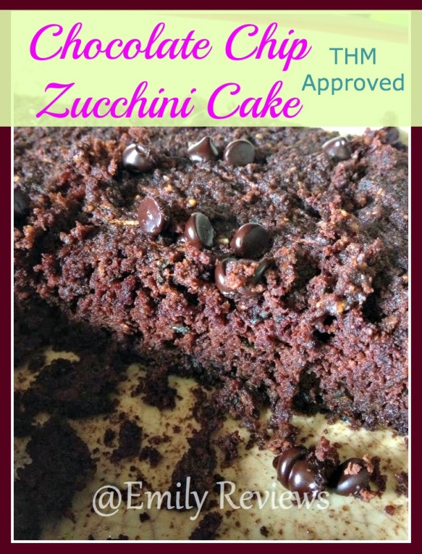 chocolate chip zucchini cake THM approved