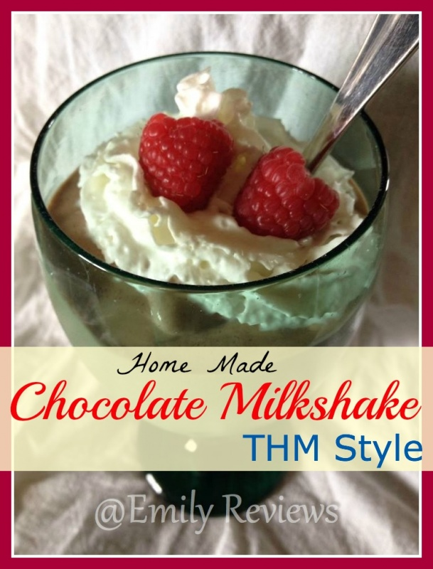 Homemade chocolate milkshake