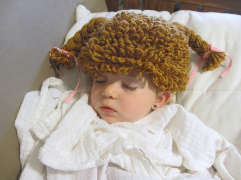 Crocheted Cabbage Patch Hat Wig From CrochetedbyCatherine Review ... 4c18e6cf8b9