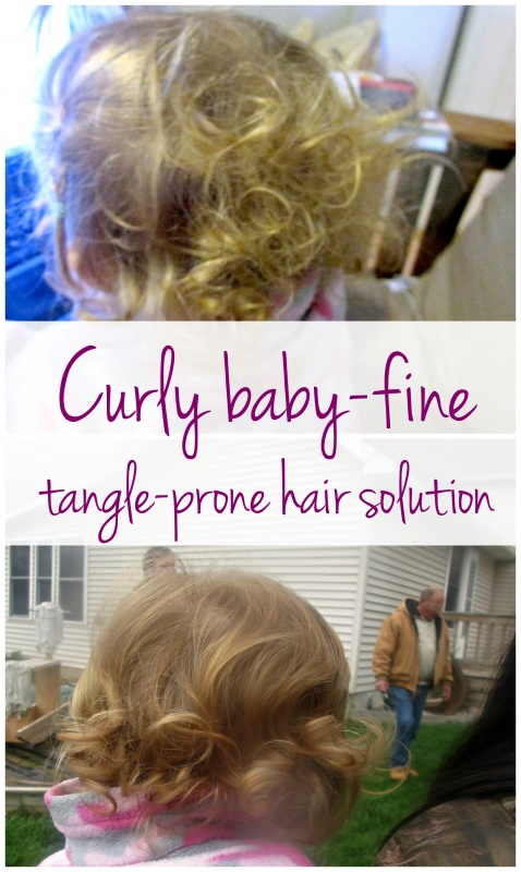 Curly fine tangle-prone toddler hair solution