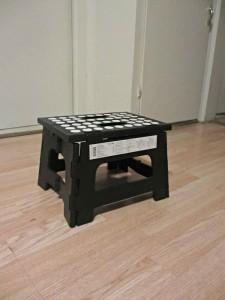 Kikkerl Rino Step Stool $12.95 holds up to 300lbs folds flat