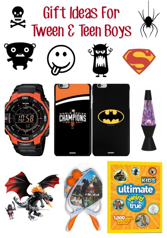 Gift ideas for tween boys and teen boys. Christmas gift guide for big boys.