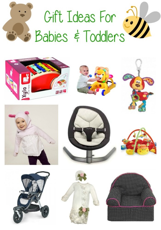 Gift Ideas For Babies and Toddlers - great christmas or birthday gift guides for newborns through about age 3.