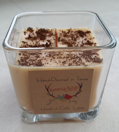 Buttercup button candle