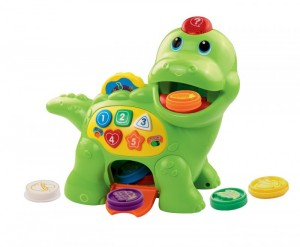 Vtech chomp & count dino for ages 12-36 months. Under $13 on amazon!