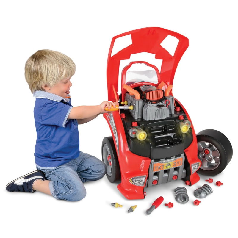 Hammacher car lover's engine repair toy - perfect gift idea for little car lovers