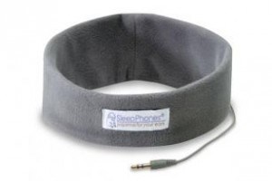 Sleepphones headphones with super thin, soft headphones inside so you can comfortably listen to music while you sleep!