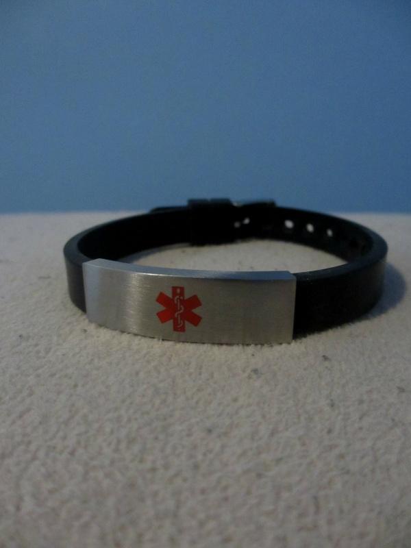 Medical ID bracelet for epilepsy