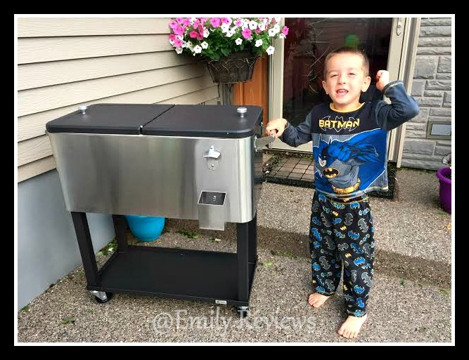 Trinityii Stainless Steel Beverage Cooler With Shelf Review Giveaway Us 6 20
