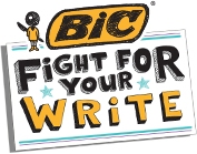 BIC Mission ~ Fight For Your Write + Giveaway (US) 8/14