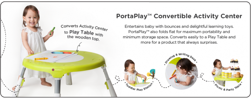 Oribel Portaplay Convertible Activity Center + Giveaway (US) 8/16