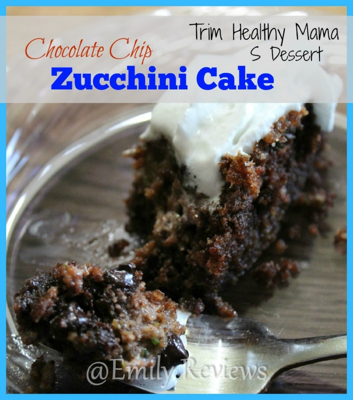 Chocolate Chip Zucchini Cake Recipe s dessert for THM trim healthy mama diet