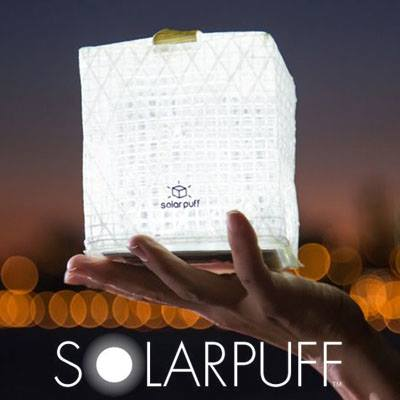 SolarPuff Solar Flat, Packackable, Inflatable, Light Cube!
