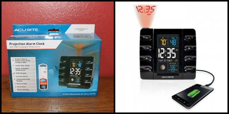 AcuRite ~ Clocks, Alarms, Timers & More This Christmas! The Projection Alarm Clock with USB Charging & Temperature is the perfect gift to give to your teen this Christmas!