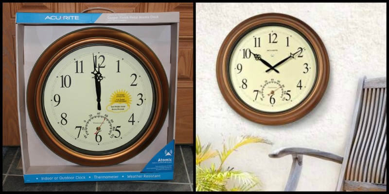AcuRite ~ Clocks, Alarms, Timers & More This Christmas! The 18 inch atomic clock that shows both time and temperature is perfect for indoor and outdoor use. Durable construction and gorgeous style makes this a beautiful gift idea!