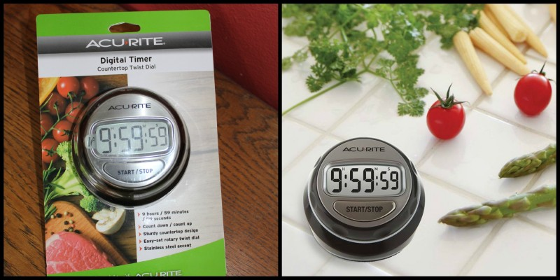 AcuRite ~ Clocks, Alarms, Timers & More This Christmas! The Digital Countertop Twist and Turn Digital Timer is perfect for the cook or baker in your family! Great stocking stuffer!