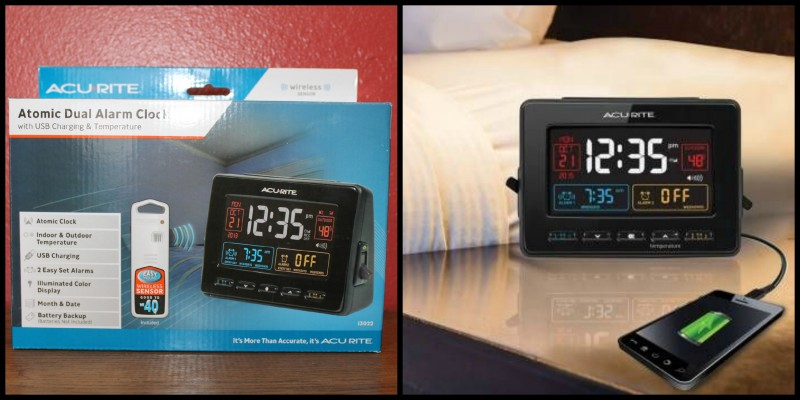 AcuRite ~ Clocks, Alarms, Timers & More This Christmas! The Atomic Dual Alarm Clock with USB Charging & Temperature is the perfect gift to give to your teen this Christmas!