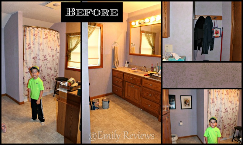 Bathroom Makeover With Glidden Grab-N-Go Paint | Emily Reviews