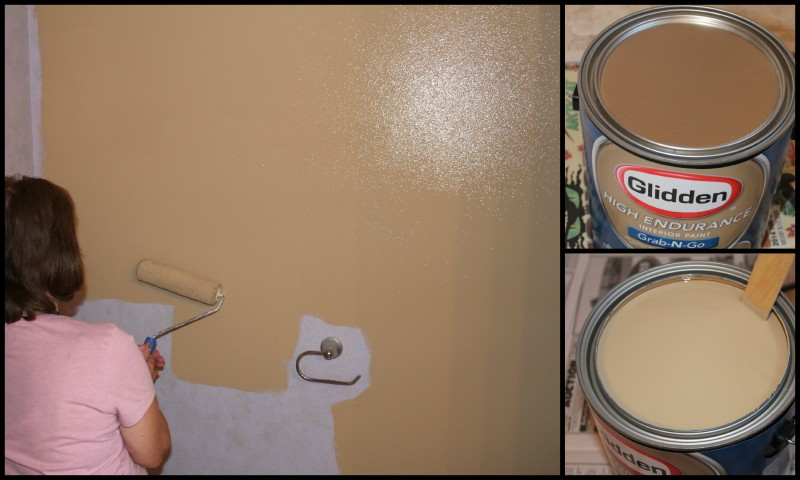Bathroom Makeover With Glidden Grab N Go Paint From Walmart