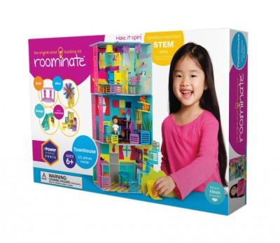 Roominate is an award-winning and customizable line of wired building systems to inspire open ended, hands on play. Girls can bring architectural dreams to life with this Roominate Townhouse! Using circuits and modular pieces, girls can construct and customize.