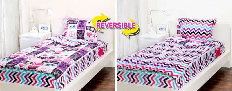 zip it rock princess bedding set