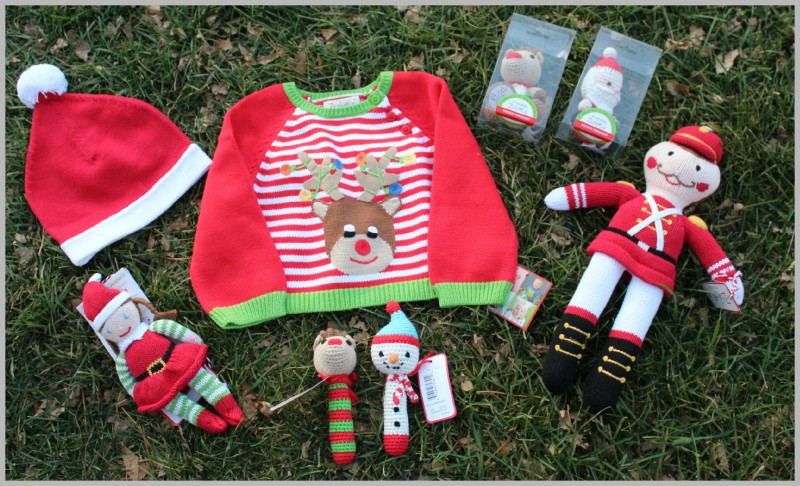 Zubels Holiday Collection ~ Reindeer Sweater, Santa Hat, Snowman Rattle, Christmas Galore!