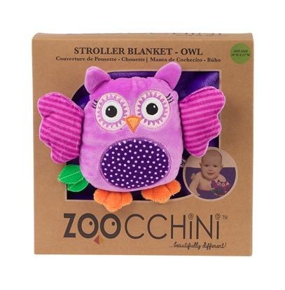 Zoocchini Stroller Buddy Blanket Purlpe Owl