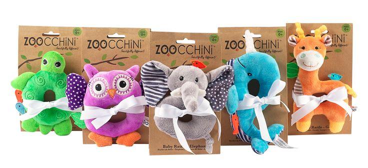 Zoocchini Baby Rattles