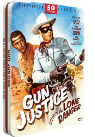Mill Creek Entertainment Gun Justince Featuring The Lone Ranger in a classic tin