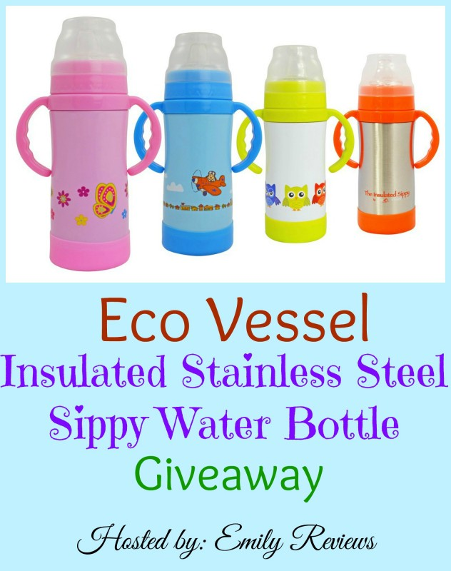 Eco Vessel Stainless Steel Sippy Water Bottle CupGiveaway