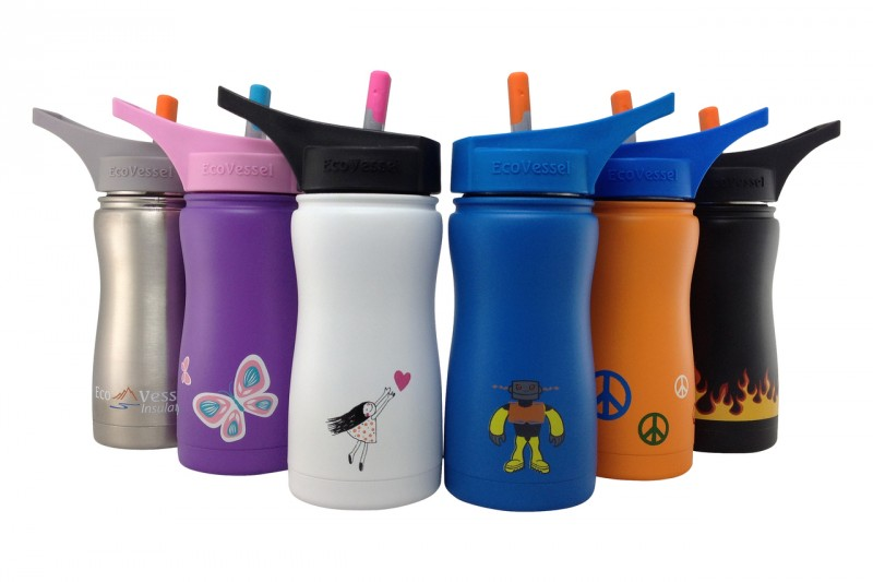 Eco Vessel Kids Frost Stainless Steel Insulated 13 ounce Water Bottle