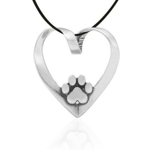 Heart Slide The Bichon Buddy Pawsitive Heart Necklace 1-500x500