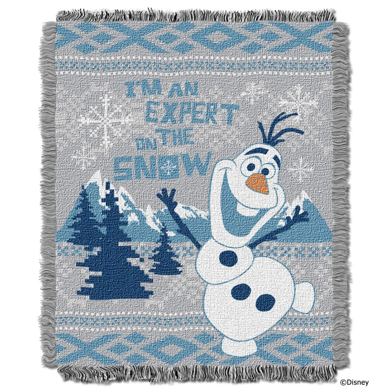 "Disney's Frozen, ""Snow Expert"" Woven Jacquard Throw by TheNorthwest"