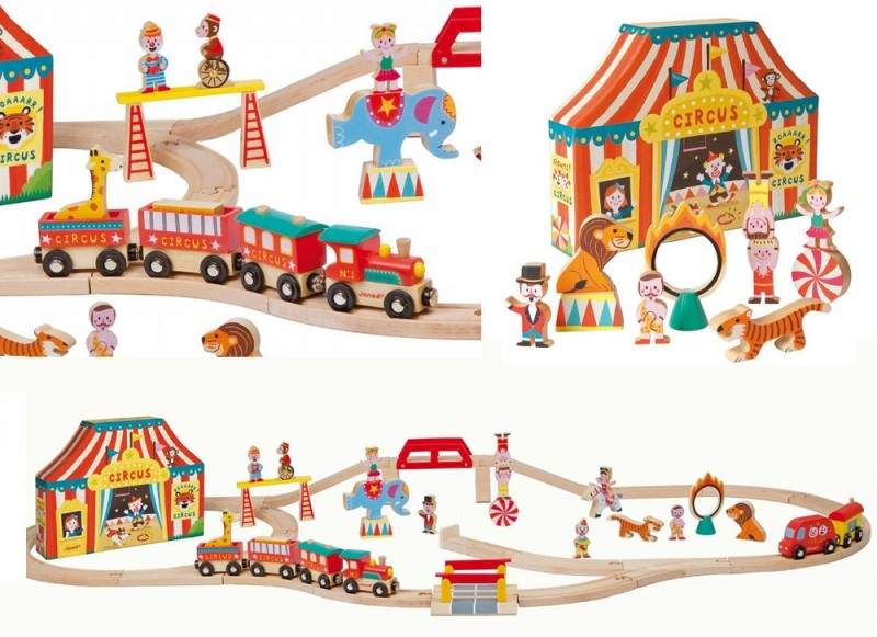 Story Express Circus Wooden Train Set by Janod
