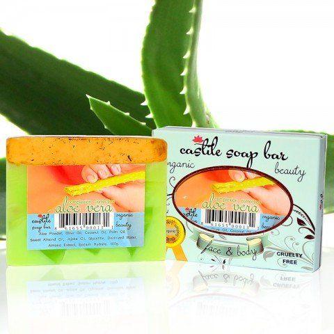 Castile Soap ~ Organic exfoliating aloe vera