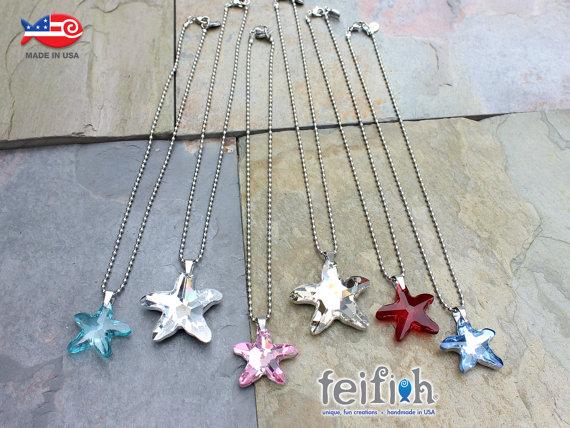 Sparkly Sea Star Necklaces
